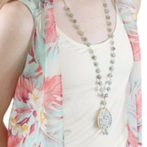 """Jewelry - Natural Stone Necklace Chain 32"""""""